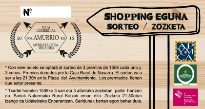 cartel apymca - shopping eguna 2016 color